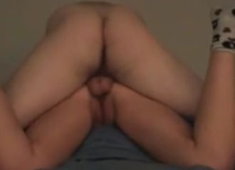 Fucking his gf and leaving an ass creampie